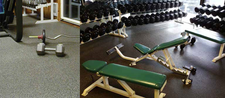 Gyms using High Impact Flooring by Dinoflex