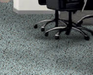 Nature's Collection series is a sustainable surface made of recycled rubber infused with cork