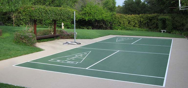 Backyard multi game court with Pickle Ball option