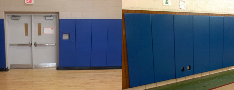 Examples of Gym Padding installed by Total Sport Solutions