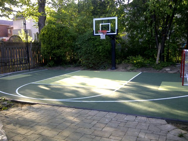 Backyard courts outdoor courts for Backyard sport court