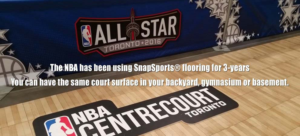 You can have an NBA court surface in your backyard, gymnasium or basement