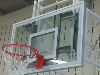 Basketball backboards at Fern Hill School, Oakville, ON