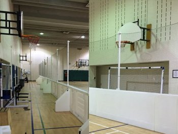 Basketball Boards at the Canadian Memorial Chiropractic College​​​​ Toronto, ON