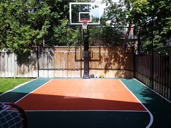 Backyard Basketball Court, Toronto, ON