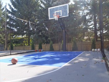 Backyard Basketball Court, Kleinburg, ON
