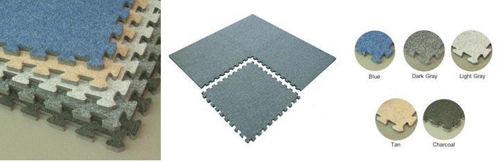 Interlocking Carpet Tiles : Indoor Sports Flooring : Gym Covers : GTA Mississauga Toronto